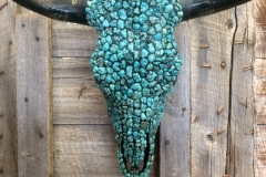 Cow Head in Turquoise Stones